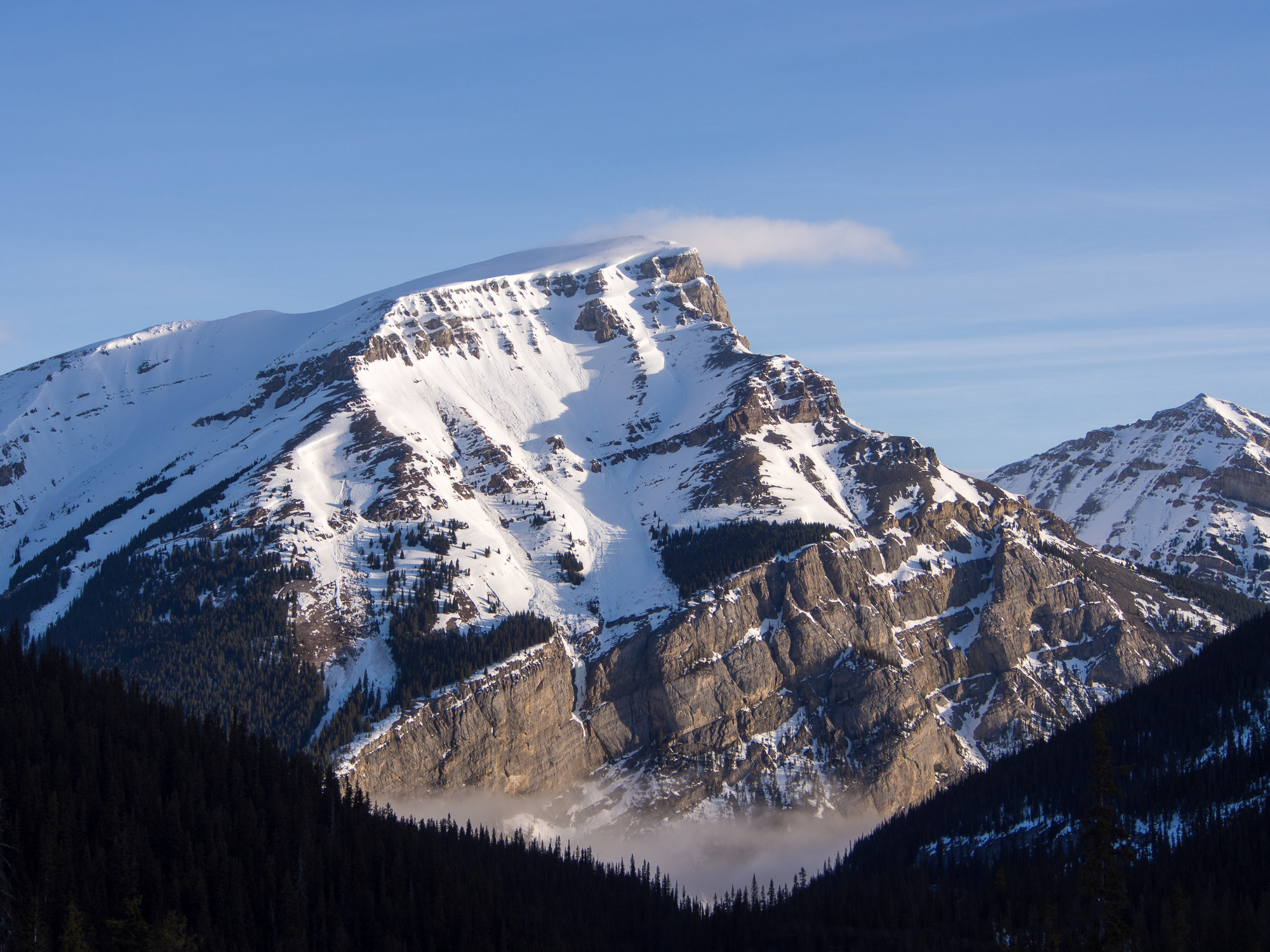 south face of Mount Bourgeau in the Canadian Rocky Mountains